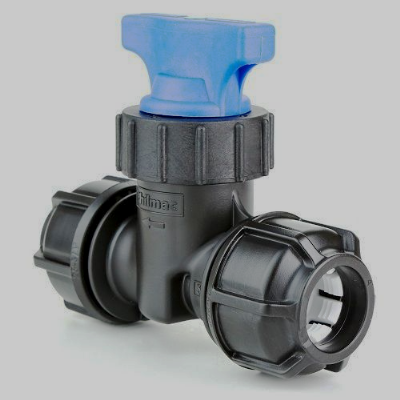 MDPE Stopcock for Mains Water 20mm Blue or Black Alkathene - 20502577